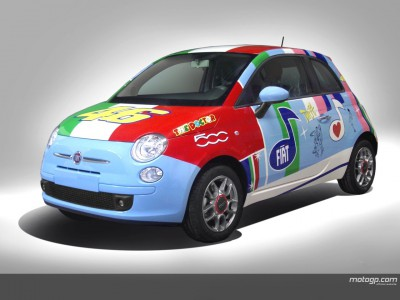 Rossi's Fiat 500 display