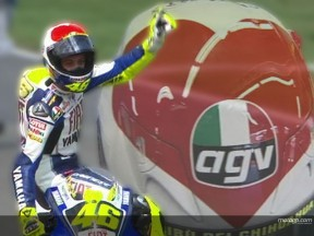 Rossi hits a six in Italy