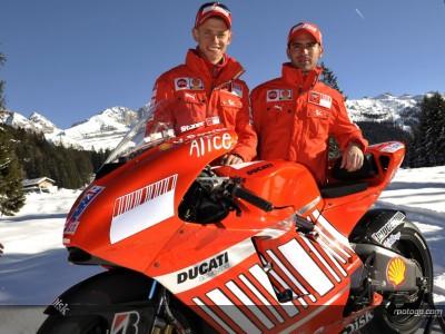 Ducati svela ufficialmente la Desmosedici GP8 sulle alpi italiane
