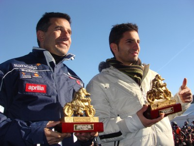 Faubel, Aspar and Penguins at Spanish prizegiving