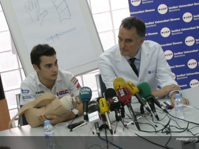 Pedrosa holds post-surgery press conference