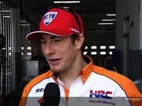 Hayden unhurt in late crash