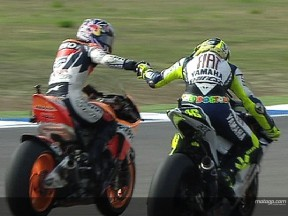 Pedrosa vs Rossi in Portugal