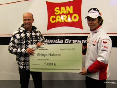 Nakano makes annual Riders for Health donation
