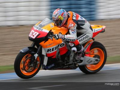 Hayden se va del Test Oficial de MotoGP con el mejor tiempo