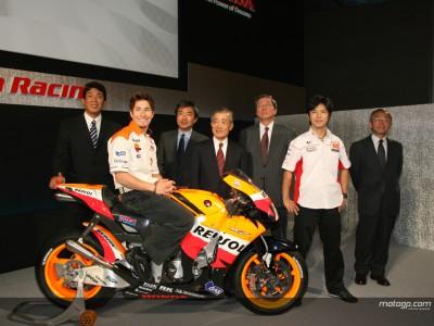 Hayden e Nakano hanno partecipato alla presentazione Honda