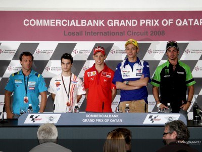 Le stelle MotoGP in conferenza stampa a Losail