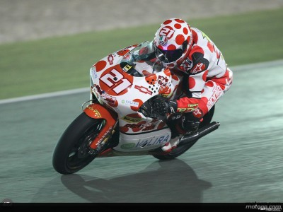Barbera in testa nel warm-up nelle 250cc