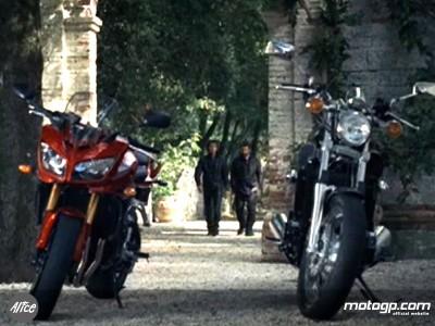 Valentino and Graziano Rossi in Yamaha Werbespot zu sehen