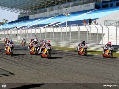 Final test for the Red Bull MotoGP Rookies ahead of first race