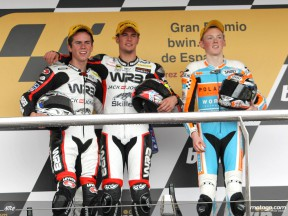125cc podium finishers give race assessment