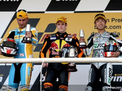 Views from the 250cc podium finishers