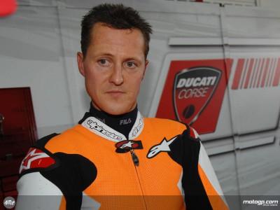 Schumacher se divierte de nuevo con la Desmosedici GP8 en Mugello