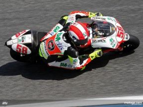 Simoncelli takes provisional 250cc pole in Portugal
