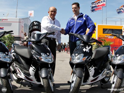 Yamaha continue to supply MotoGP paddock scooters