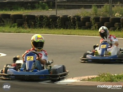 Le duo de l´Alice Team en karting avant le Grand Prix
