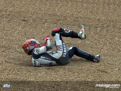 Lorenzo escapes injury in free practice crash - Unseen footage