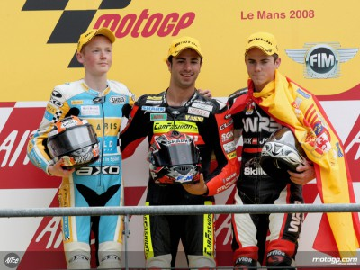 125cc podium finishers review split race