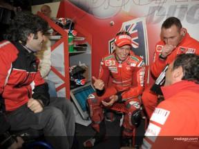 Preziosi explica las diferencias  de motor en las Desmosedici GP8 de Stoner y Melandri