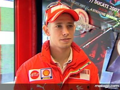La pioggia limita le prestazioni dei piloti Ducati Marlboro