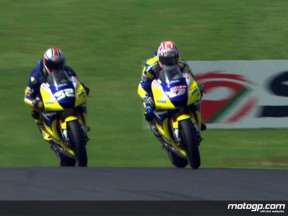 De Angelis surprises home fans in MotoGP warmup