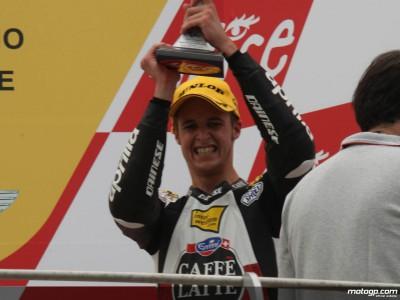 Luthi, aliviado  tras conseguir finalmente un podio en 250cc