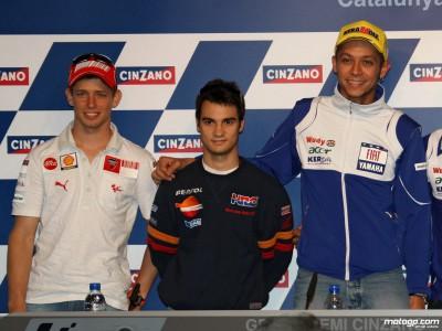 Erinnerungen an Catalunya 2007 von Rossi, Stoner und Pedrosa