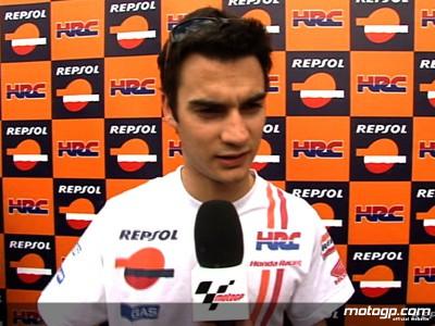 Pedrosa puts crash down to asphalt joint