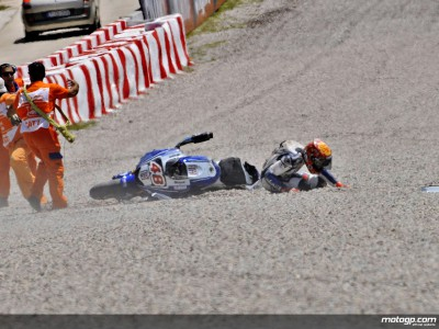 Lorenzo OUT of Catalunya race after practice crash