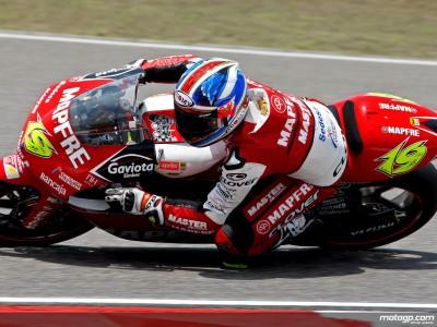 Bautista aumenta el ritmo en la última tanda libre de 250cc