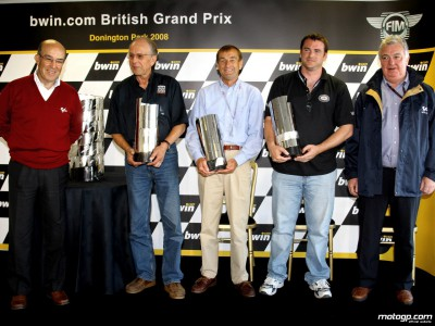 Past MotoGP World Champions honoured at Donington