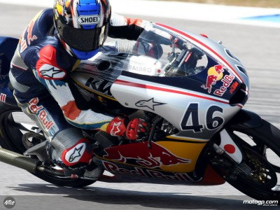 Hiura hangs on to Red Bull MotoGP Rookies Cup pole