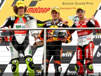 250cc podium finishers explain Donington finale
