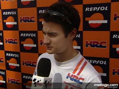 Hayden cuarto y Pedrosa noveno en un complicado día para el Repsol Honda