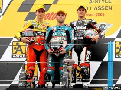 125cc top three reflect on thrilling race