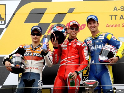 MotoGP podium trio speak after A-Style TT Assen
