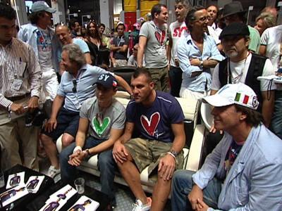 Lorenzo attends Barcelona show with Christian Vieri