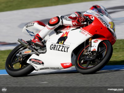 Bradl sets out stall with fastest 125cc practice time
