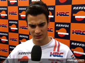 Pedrosa brushes off crash and looks to improve pace