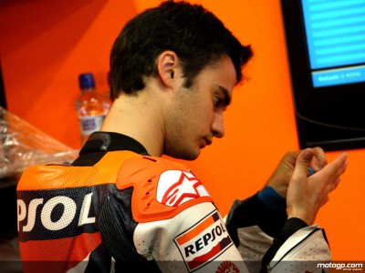 Pedrosa pace restricted by injuries in early session
