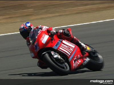 Stoner dominates opening day at Laguna Seca
