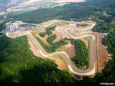 Cloudy conditions as action commences at Brno