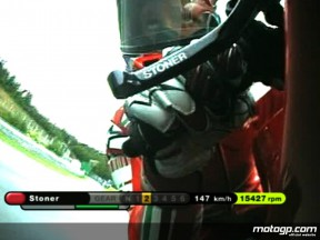 OnBoard with Casey Stoner at Brno practice