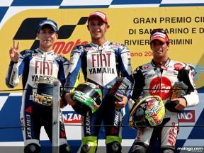 Siegerinterviews der MotoGP-Piloten von Misano
