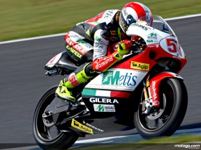 Five-star Simoncelli takes another 250cc pole