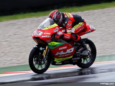 Di Meglio domina no molhado e garante pole provisória nas 125cc