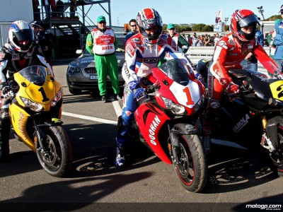 Lendas do MotoGP desfrutam regresso a Phillip Island
