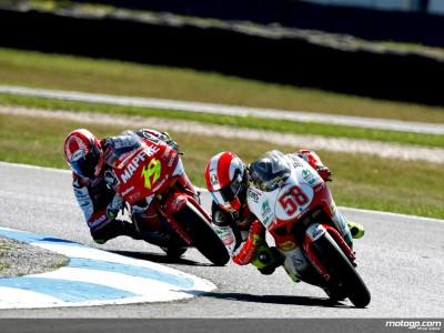 Piaggio boss enjoys Simoncelli and Di Meglio success