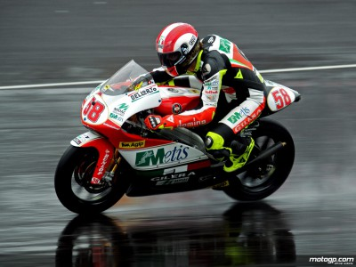 Simoncelli tops 250cc timesheet on Friday morning