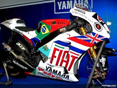 La Yamaha M1 aux couleurs des `Lorenzo's Lands´ à Valence